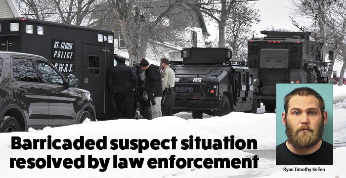 Barricaded suspect situation resolved by law enforcement