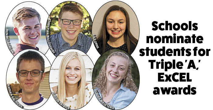 "Schools nominate students for Triple ""A,"" ExCEL awards"