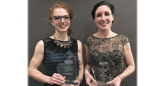 Sjostrom, Vogt receive Outstanding Young Minnesotans award